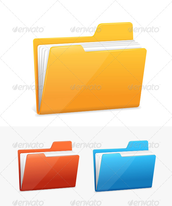 GraphicRiver Three Folders with Paper 5842582