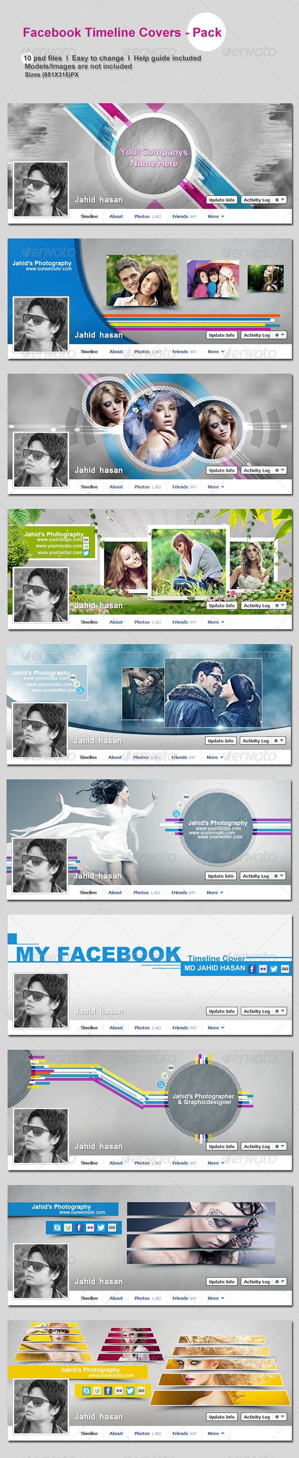 GraphicRiver FaceBook Timeline Covers Pack 5842617