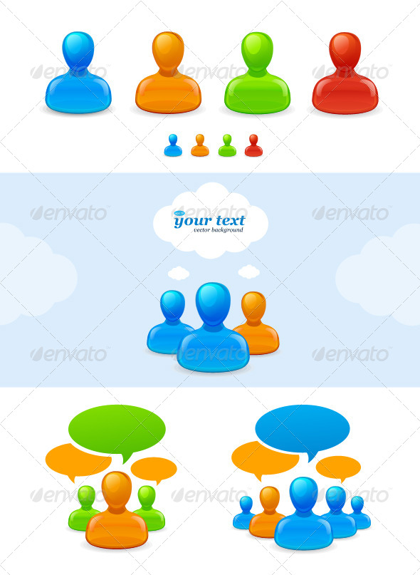 GraphicRiver Set of Humans Icons and Concepts 5842628
