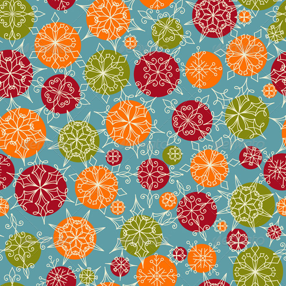 GraphicRiver Vector Seamless Pattern with Snowflakes 5842738
