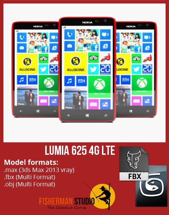 3DOcean Nokia Lumia 625 4G LTE 5842978