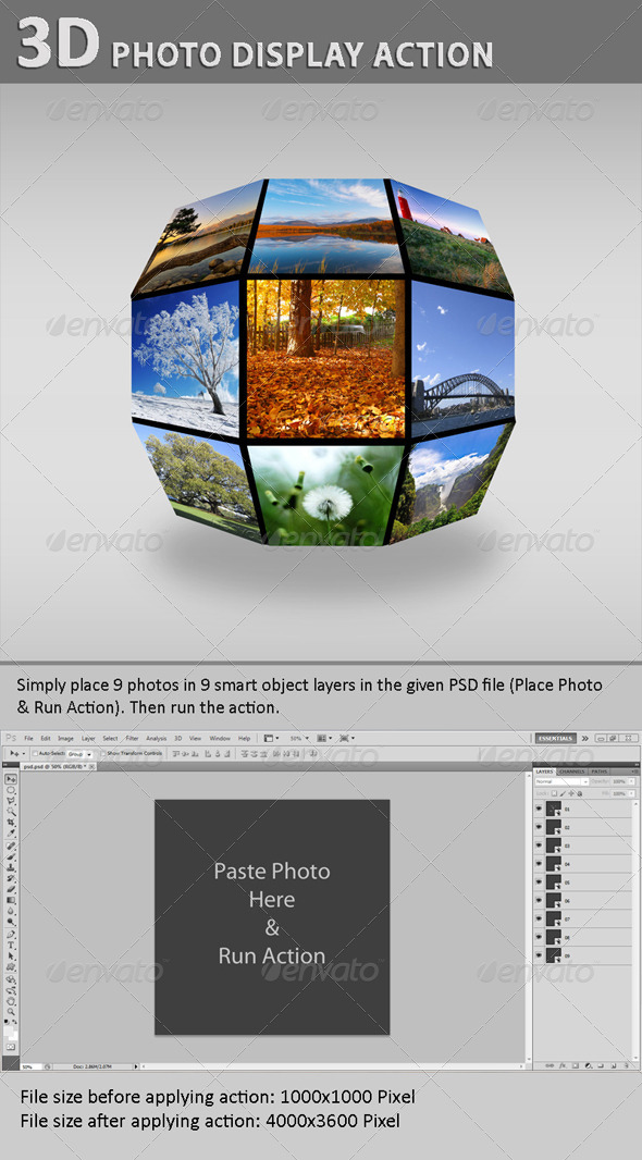 GraphicRiver 3D Photo Display Action 5843030
