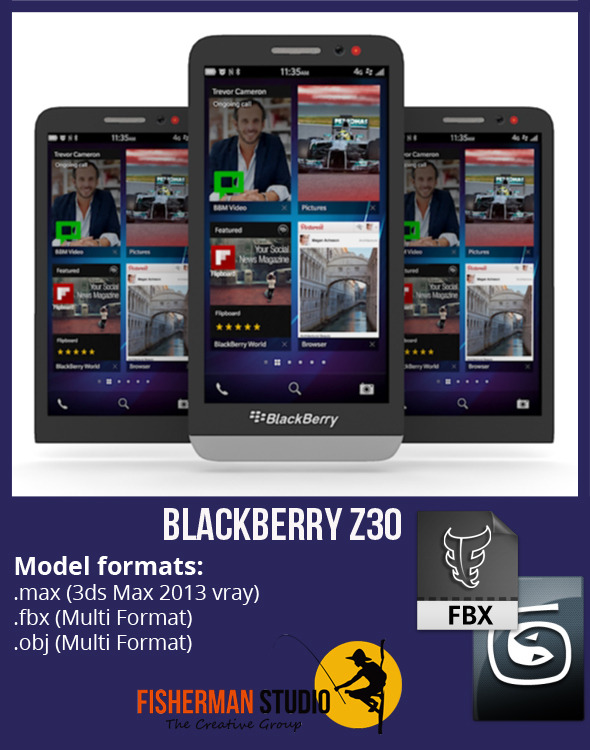 BlackBerry Z30 - 3DOcean Item for Sale