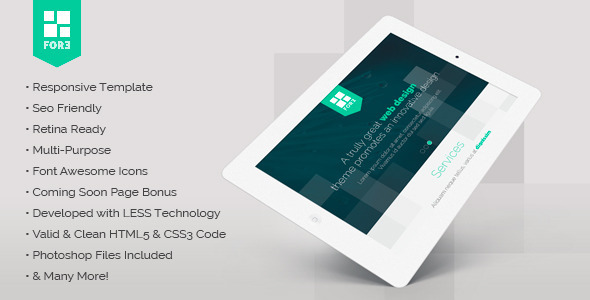 ThemeForest Fore responsive retina-ready one-page template 5834822