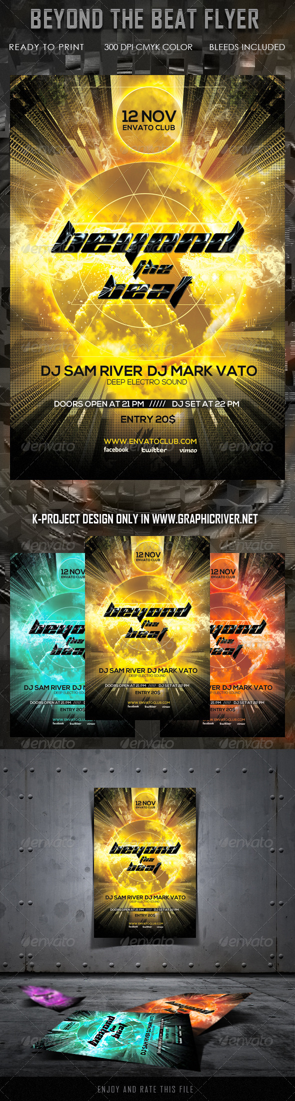 GraphicRiver Beyond The Beat Flyer 5843367