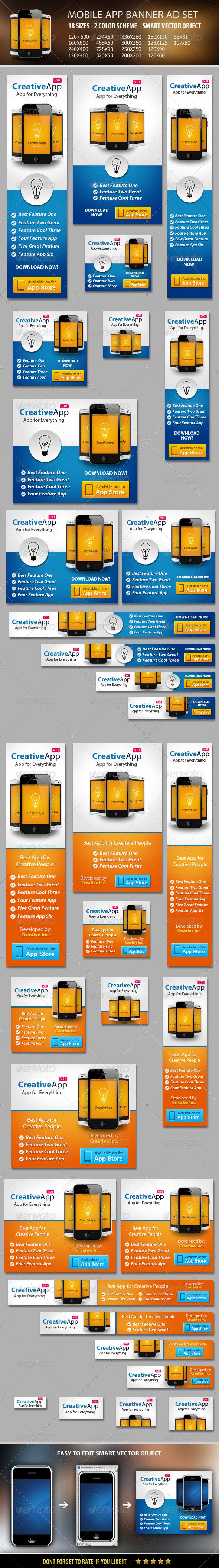 GraphicRiver Mobile App Banner ad Set 5843731