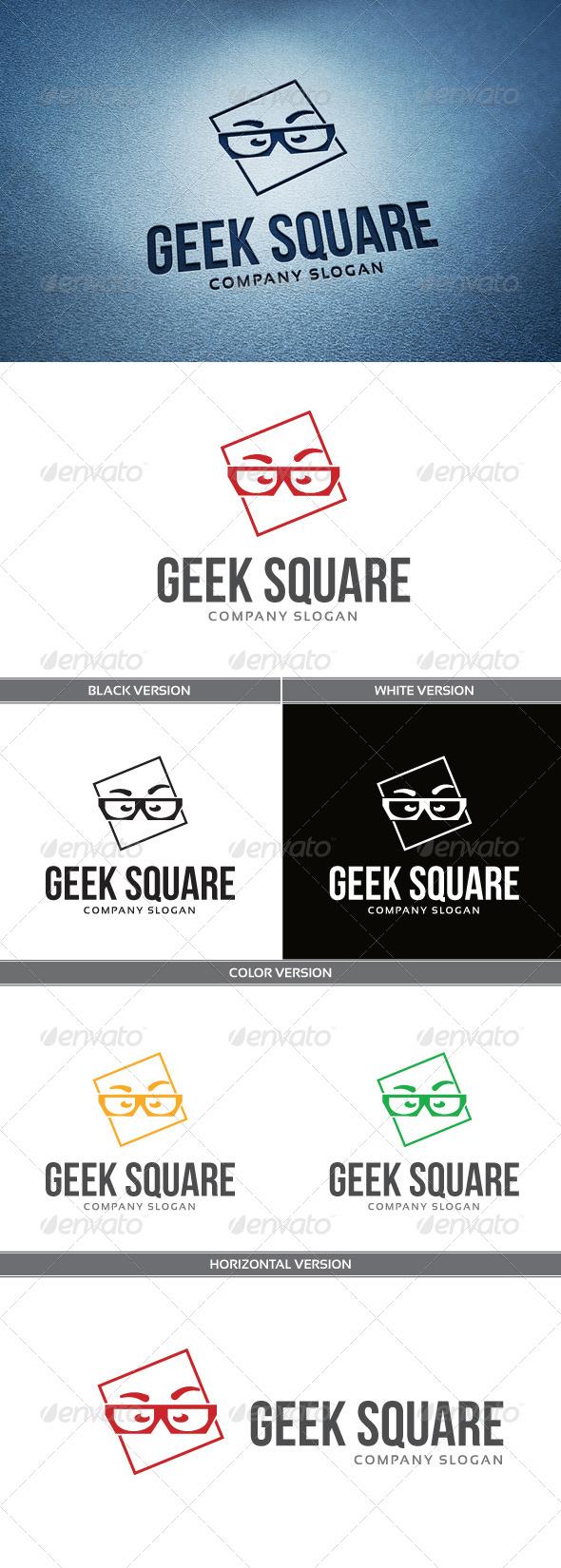 GraphicRiver Geek Square Logo 5843886