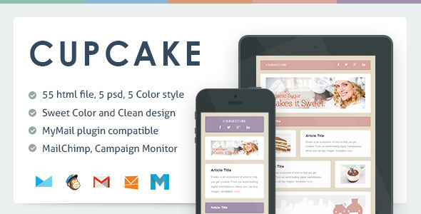 ThemeForest Cupcake Responsive Email Template 5843913