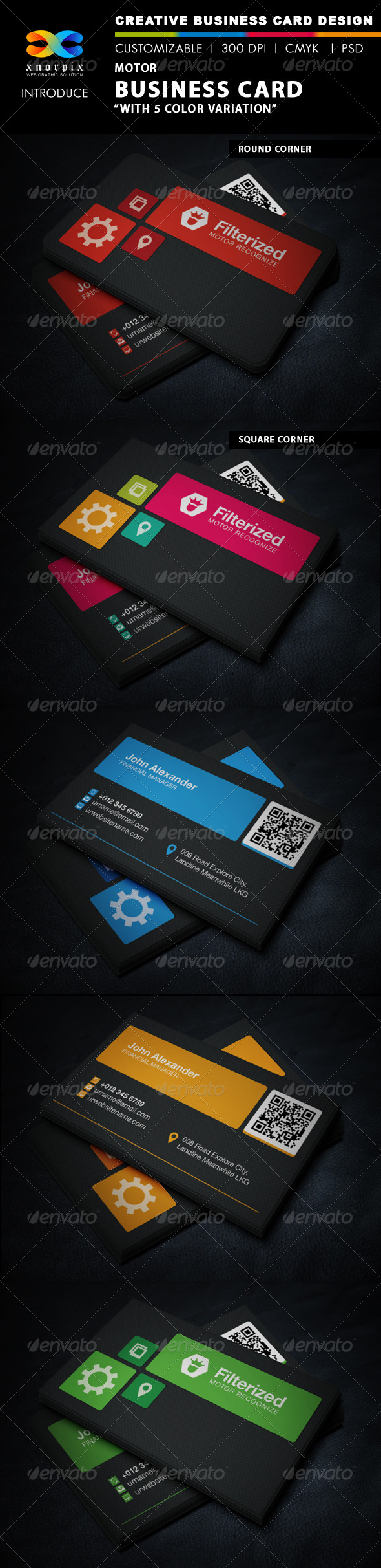 GraphicRiver Motor Business Card 5843938