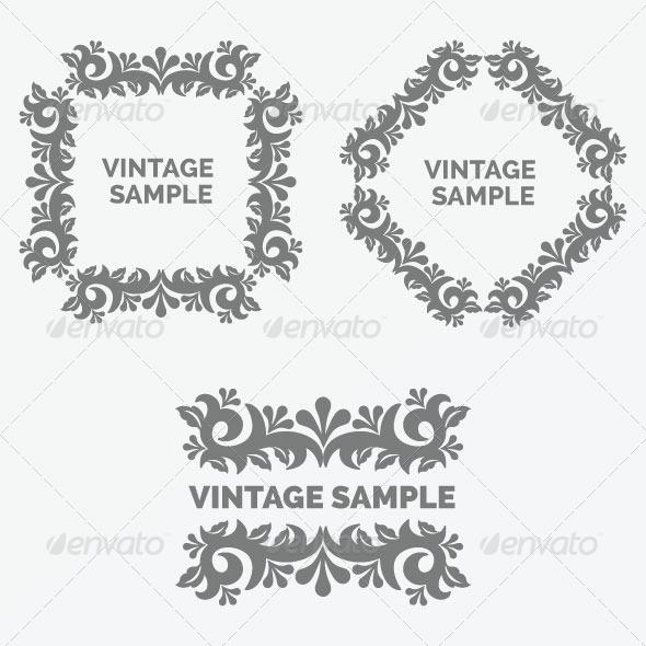 GraphicRiver Vintage Design Elements 16 5844033