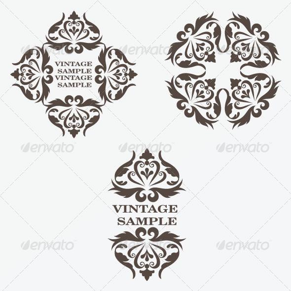 GraphicRiver Vintage Design Elements 17 5844040