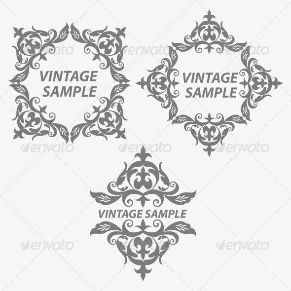 GraphicRiver Vintage Design Elements 21 5844048