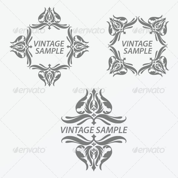 GraphicRiver Vintage Design Elements 24 5844051