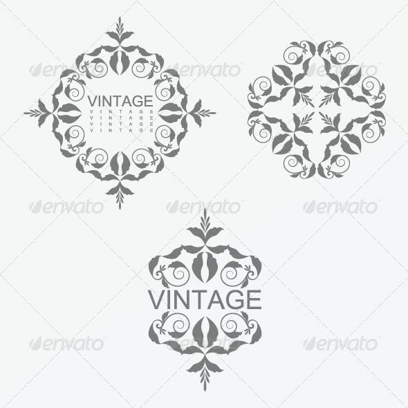 GraphicRiver Vintage Design Elements 27 5844056