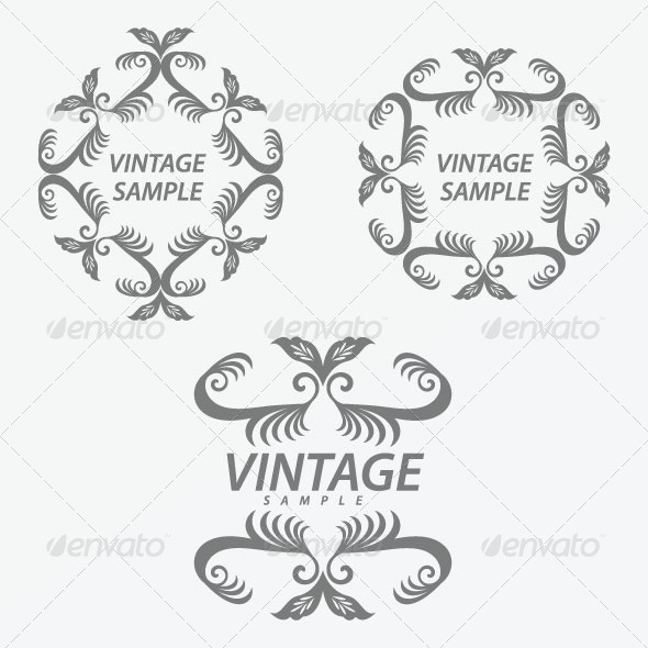 GraphicRiver Vintage Design Elements 28 5844058