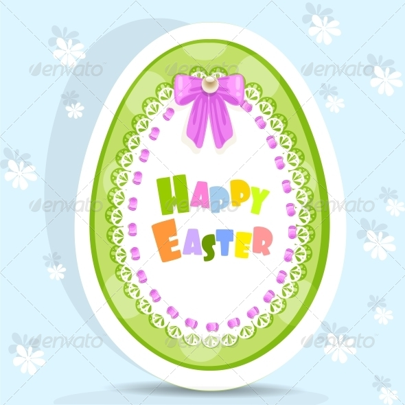GraphicRiver Easter Egg-Laced Postcard 5844062