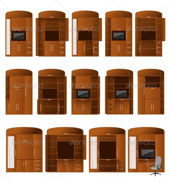 GraphicRiver Collection of Cabinet Bureaus 5845525