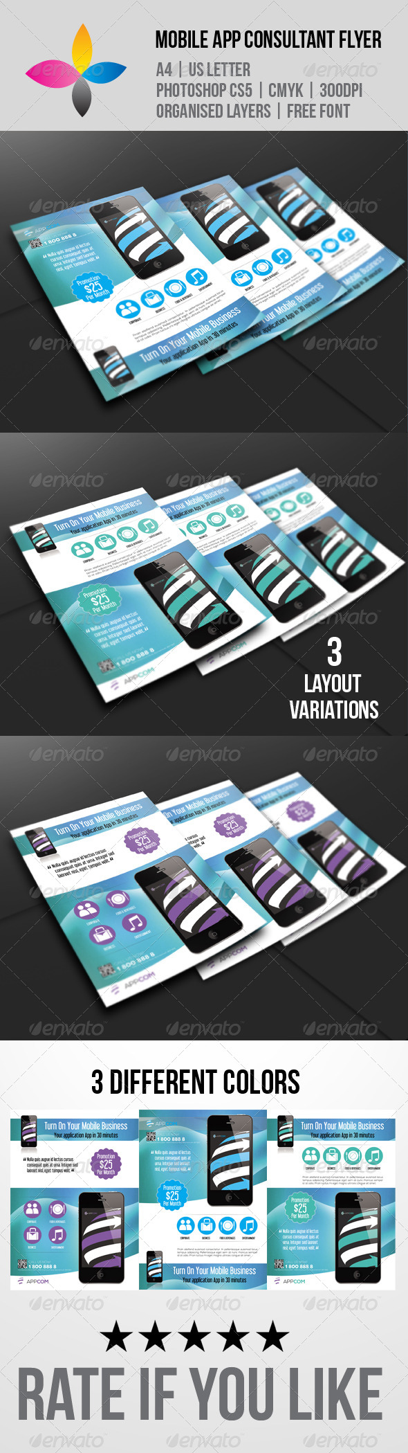 GraphicRiver Mobile App Consultant Flyer 5846072