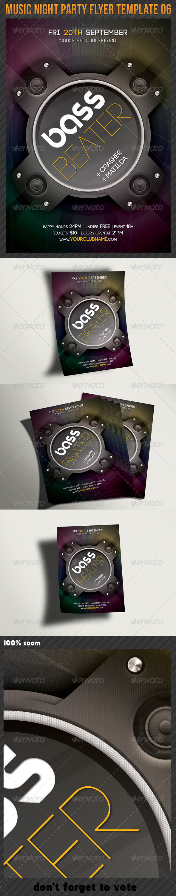 GraphicRiver Music Night Party Flyer Template 06 5846514
