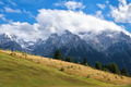 clouds on mountain peaks, Bavaria