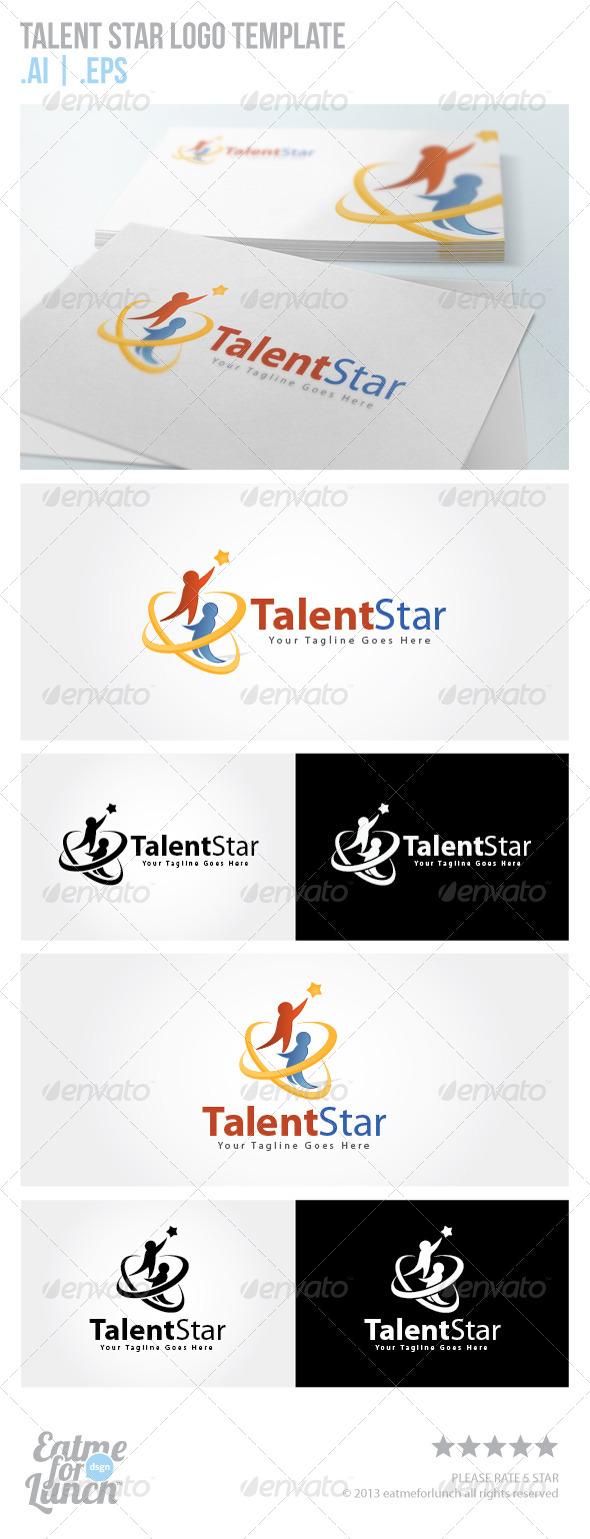 Talent Star Logo Template