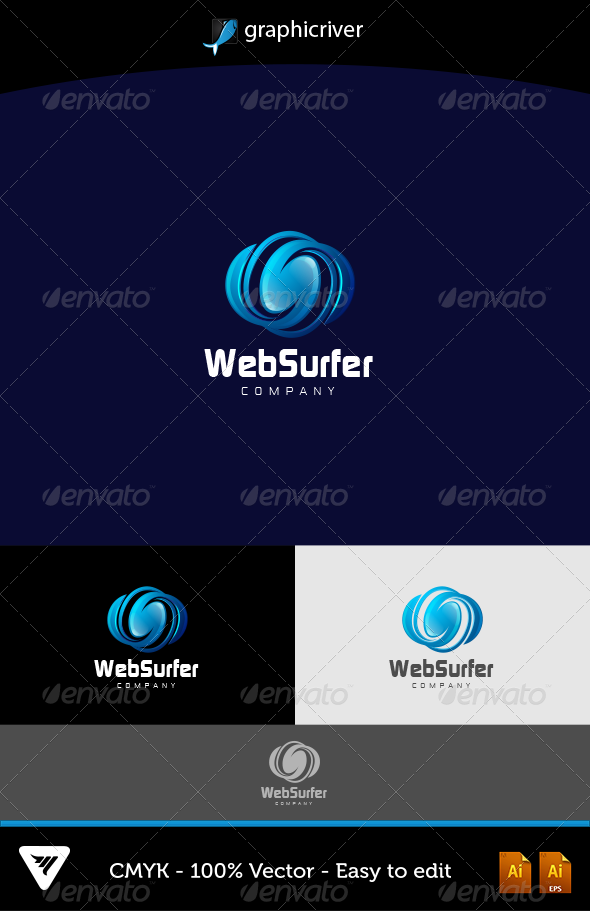 GraphicRiver WebSurfer Logo 5847109