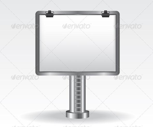 GraphicRiver Billboard Illustration on White Background 5847331