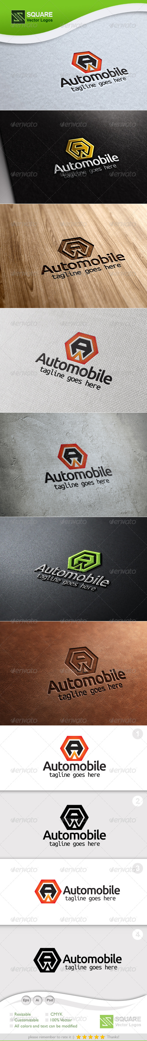 GraphicRiver A Hexagon Vector Logo Template 5847355