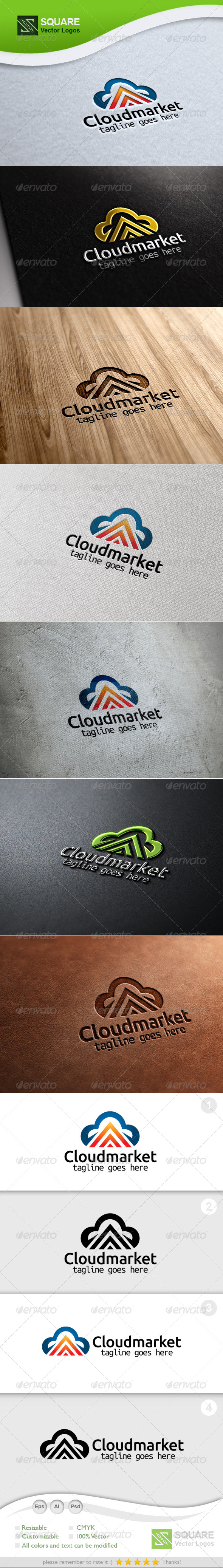 GraphicRiver Cloud Up Arrow Vector Logo Template 5847489