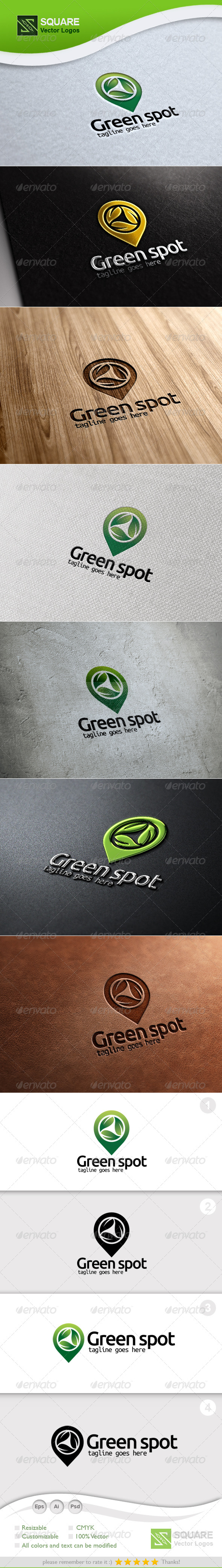 GraphicRiver Leafs Locator Vector Logo Template 5847922