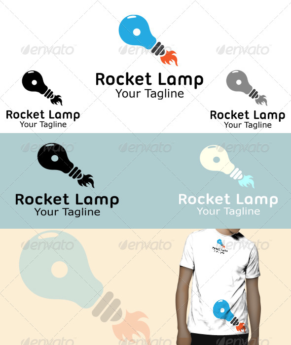 GraphicRiver Rocket Lamp Logo 5848057