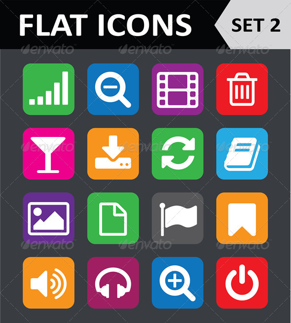 GraphicRiver Universal Colorful Flat Icons Set 2 5848184