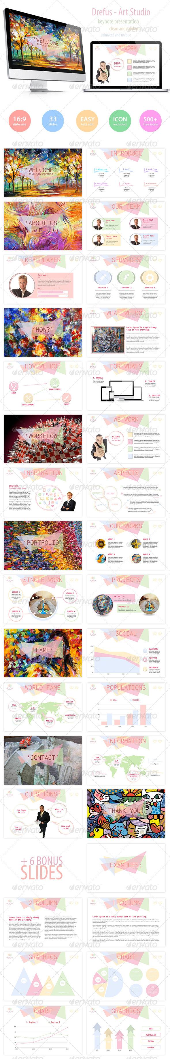 GraphicRiver Drefus Art Keynote Presentation 5848399