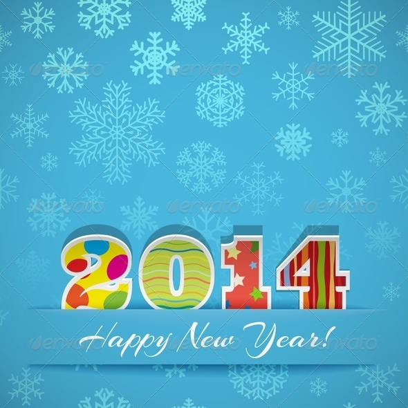 New Year 2014 Background - New Year Seasons/Holidays