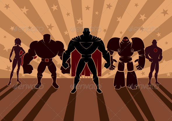 Superhero Team - People Characters