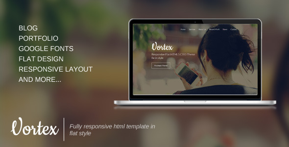 ThemeForest Vortex Responsive One Page Template 5849100