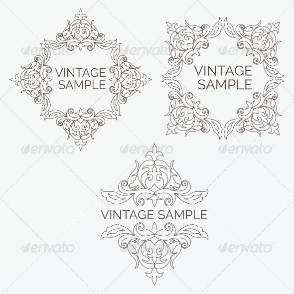 GraphicRiver Vintage Design Elements 19 5849431