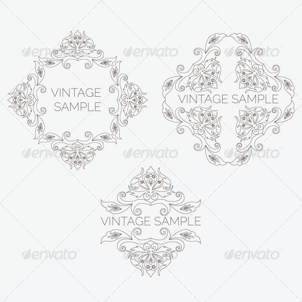 GraphicRiver Vintage Design Elements 20 5849544