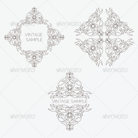GraphicRiver Vintage Design Elements 22 5849744