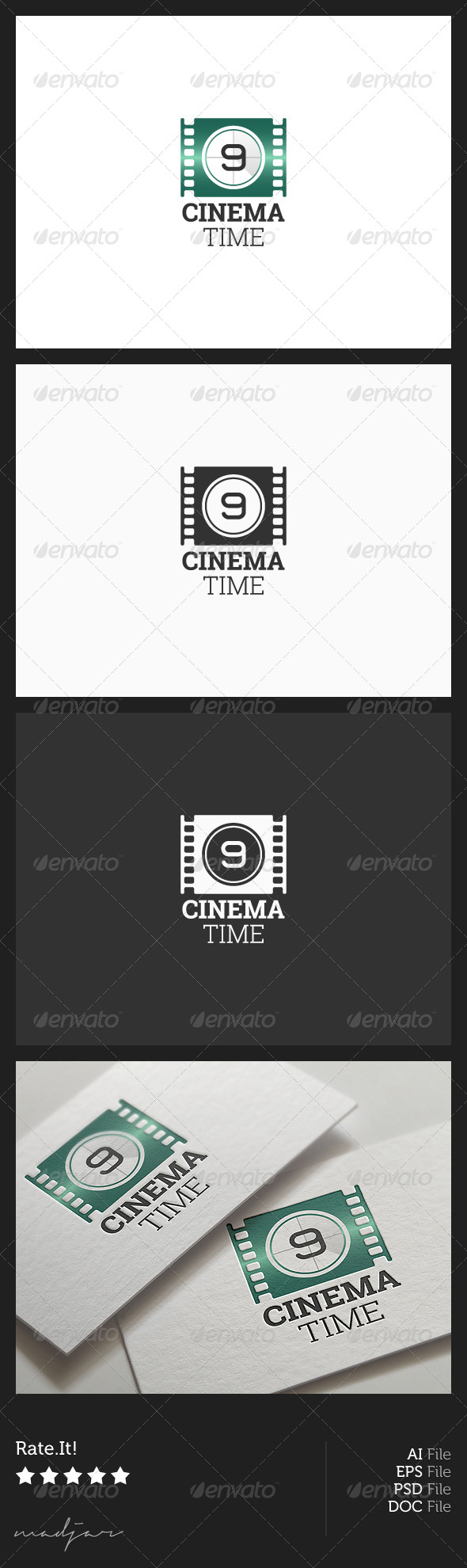 Cinema Logo - Objects Logo Templates