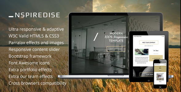 NSPIREDISE Onepage Parallax Responsive Template