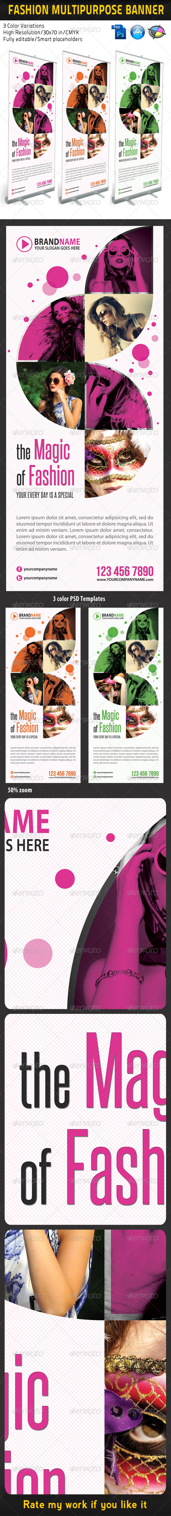 Fashion Multipurpose Banner Template 05 - Signage Print Templates
