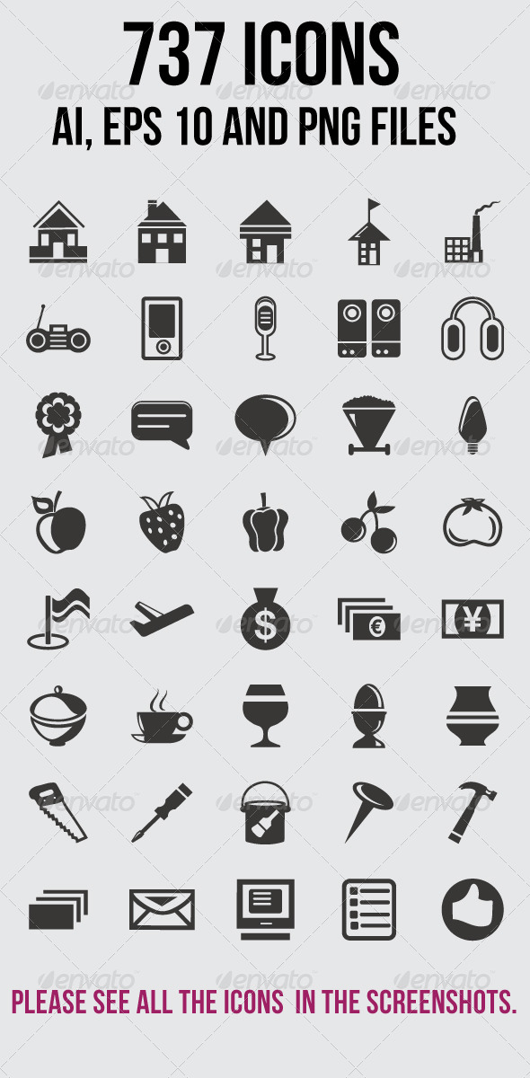 GraphicRiver 737 Icons 5850345