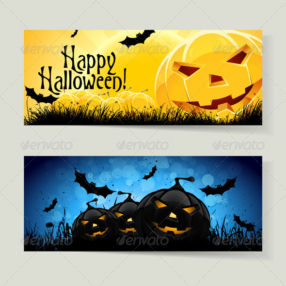 GraphicRiver Set of Halloween Banners 5850460