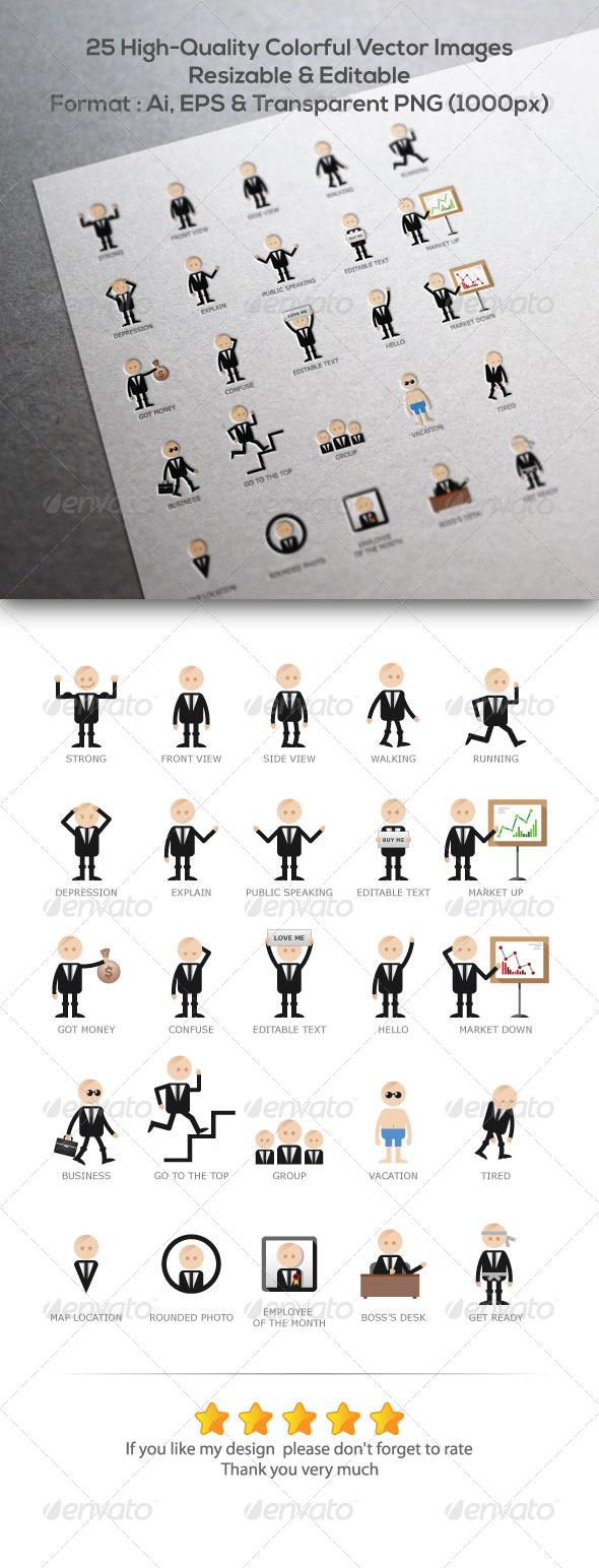 GraphicRiver 25 Businessman Gestures 5851169