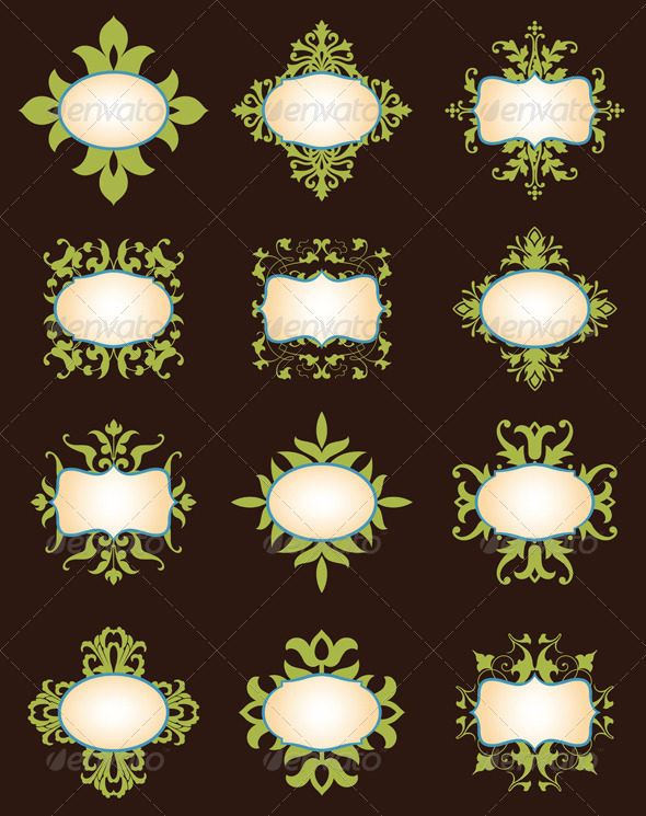 GraphicRiver Floral Labels & Tags 5851307