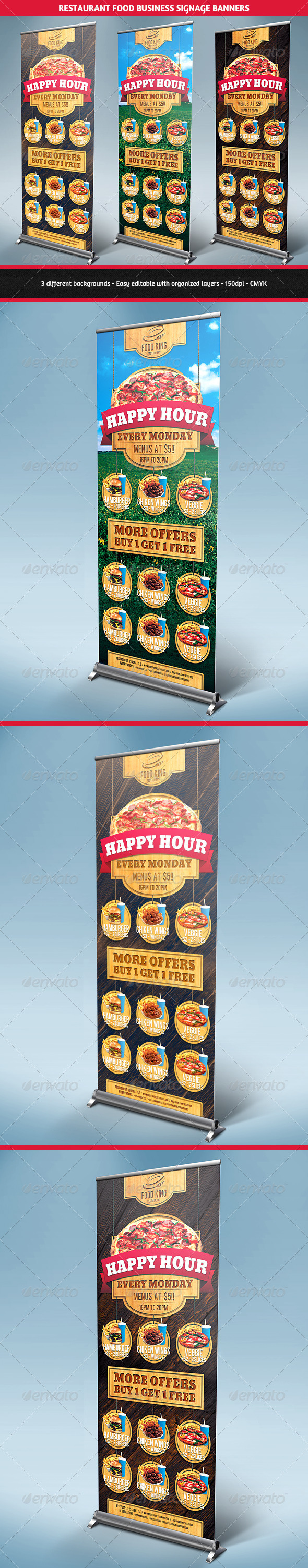 GraphicRiver Restaurant Food Promotion Signage Banners 5851715