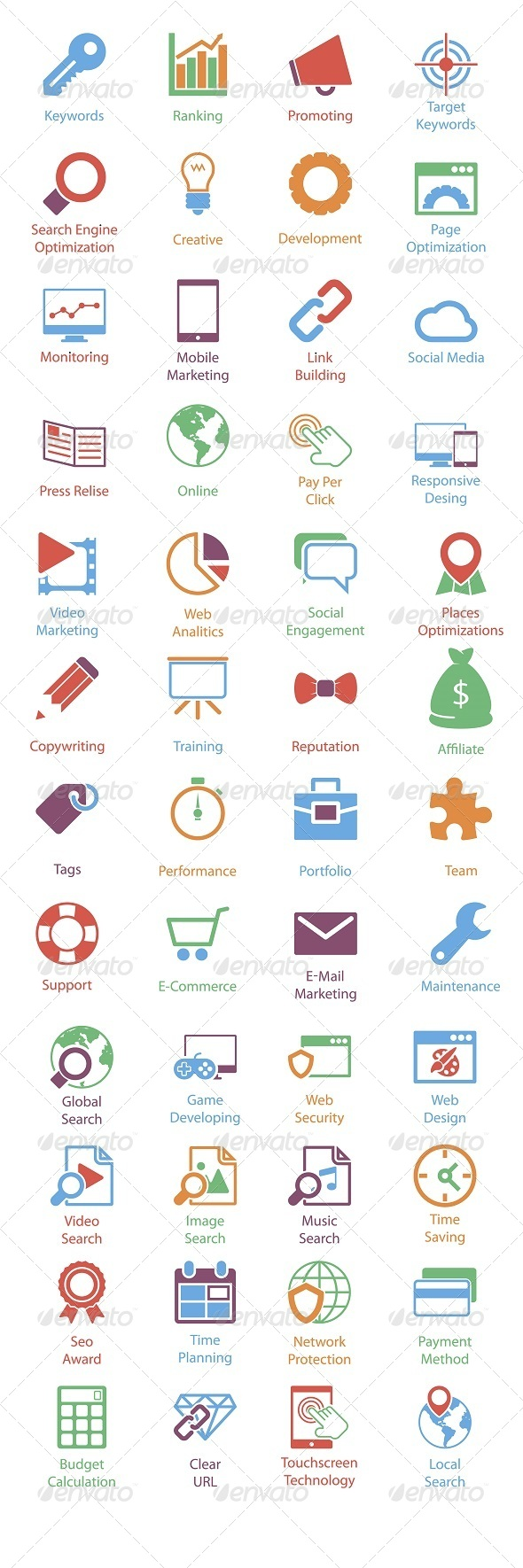 GraphicRiver 48 SEO Icons 5852191
