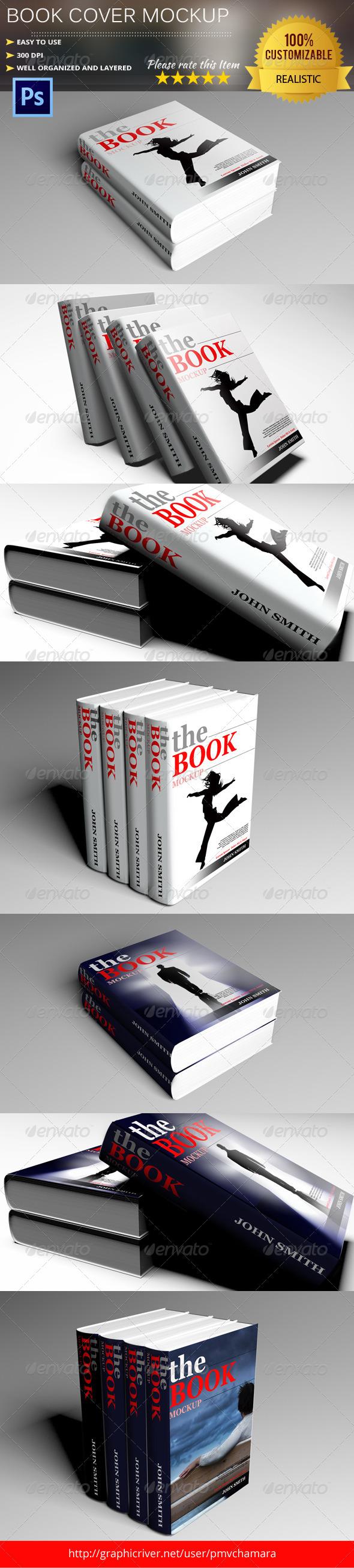 Book Cover Graphicriver : Photorealistic book cover mock up graphicriver