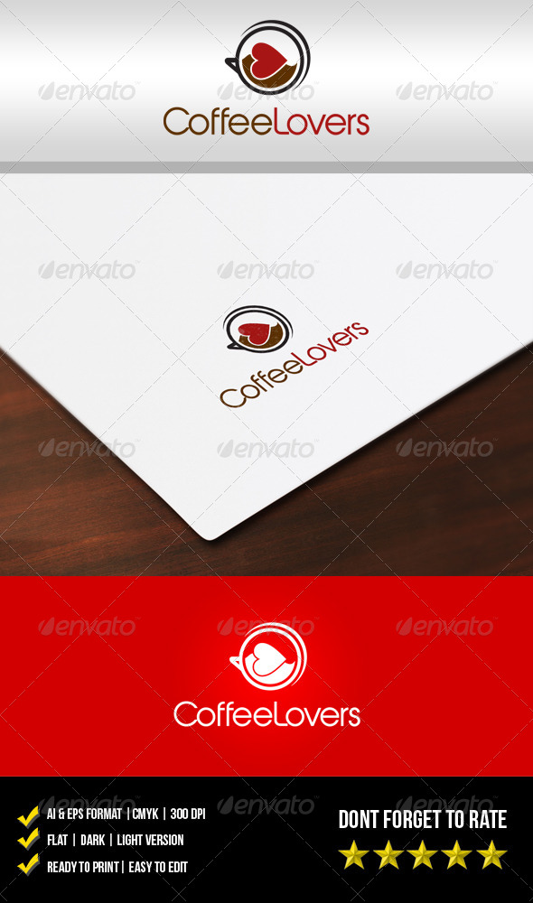 GraphicRiver Coffee Lovers Logo 5852288